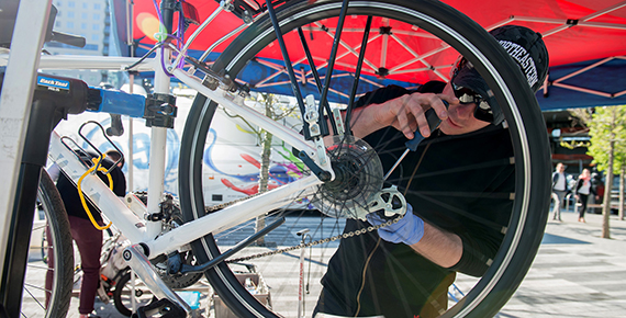 Biweekly Bike Tune Ups at Boston Seaport